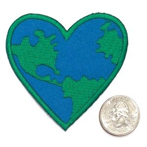 Love Earth Patch, Iron On Badge, Sustainable, DIY